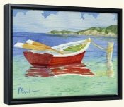 PB-Red Rowboat   -Canvas Art Print