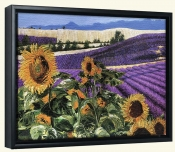 Sunflowers & Lavender   -Canvas Art Print