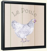 La Poule-Chicken  -Canvas Art Print