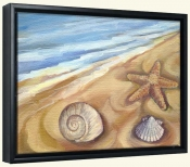 Shells in the Sand   -Canvas Art Print