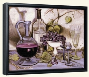 Wine Decanter and Glass   -Canvas Art Print