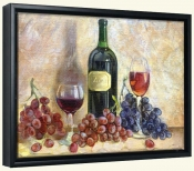 Wine and Grapes   -Canvas Art Print