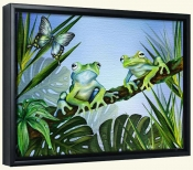 Two Blue Frogs   -Canvas Art Print
