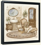 Antique Bath II   -Canvas Art Print