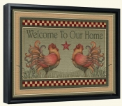 Welcome Roosters  -Canvas Art Print