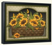 Sunflower Basket  -Canvas Art Print
