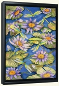 Water Lilies and Dragonflies  -Canvas Art Print