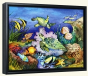 Green Sea Turtles  -Canvas Art Print