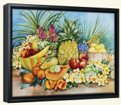 Tropical Fruit  -Canvas Art Print