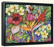 Tropical Floral  -Canvas Art Print