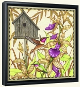 Hummingbird and Orchids  -Canvas Art Print