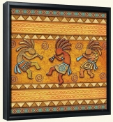 3 Kokopellies  -Canvas Art Print
