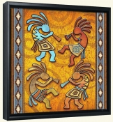4 Kokopellies  -Canvas Art Print