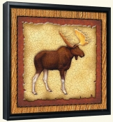Lodge Moose 1  -Canvas Art Print