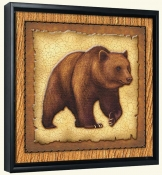 Lodge Grizzly Bear 1  -Canvas Art Print