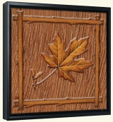 Lodge Maple Leaf 1  -Canvas Art Print