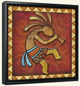 Kokopelli A Right  -Canvas Art Print