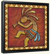 Kokopelli A Left  -Canvas Art Print