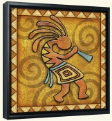 Kokopelli B Right  -Canvas Art Print