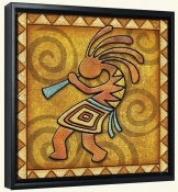 Kokopelli B Left  -Canvas Art Print