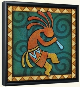 Kokopelli C Right  -Canvas Art Print