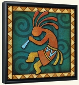 Kokopelli C Left  -Canvas Art Print