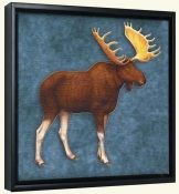 Lodge Moose 2  -Canvas Art Print