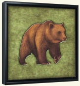 Lodge Grizzly Bear 2  -Canvas Art Print