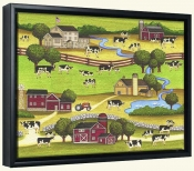 Farm Scene 1  -Canvas Art Print