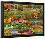 Farm Scene 2  -Canvas Art Print