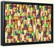 Stacked Wine Bottles  -Canvas Art Print