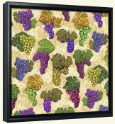 Wine Grapes Collage  -Canvas Art Print