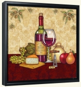 Vino and Cheese 1  -Canvas Art Print