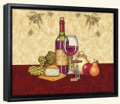 Vino and Cheese 2  -Canvas Art Print