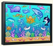 Under The Sea  2 -Canvas Art Print