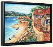 Seaside Villa -Canvas Art Print