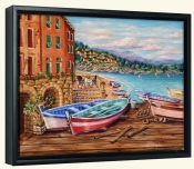 Boats by the Bay -Canvas Art Print