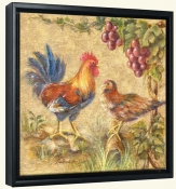 Rooster Duo -Canvas Art Print
