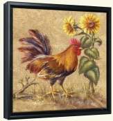 Rooster in the Sunflowers -Canvas Art Print