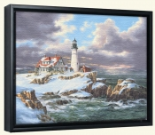 Portland Head Lighthouse-Winter-Canvas Art Print