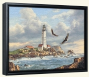 Boston Lighthouse -Canvas Art Print