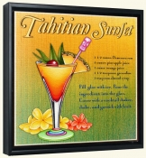 Drink Recipe-Tahitian Sunset -Canvas Art Print