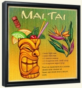 Drink Recipe-Mai Tai-Canvas Art Print