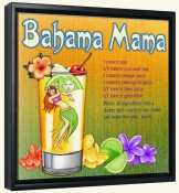 Drink Recipe-Bahama Mama-Canvas Art Print