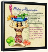 Drink Recipe-Blue Hawaiian-Canvas Art Print