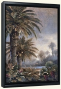 JL-Misty Palms I -Canvas Art Print
