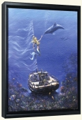 SB-Mermaid Sailing -Canvas Art Print