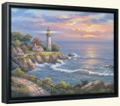 SK-Sunset at Lighthouse -Canvas Art Print