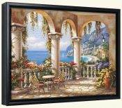 SK-Terrace Arch I -Canvas Art Print