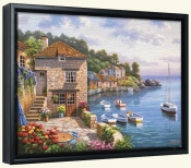 SK-Harbor Garden -Canvas Art Print